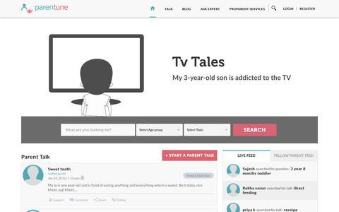 Screenshot of Home Page parentune.com - Parentune - Best Parenting Website parent workshop in India - captured Jan. 24, 2016