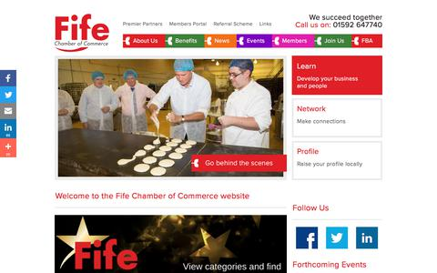 Screenshot of Home Page fifechamber.co.uk - Fife Chamber of Commerce | - captured Oct. 13, 2017