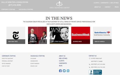 Screenshot of Press Page thecalendargroup.com - Press | The Calendar Group - captured Aug. 14, 2016
