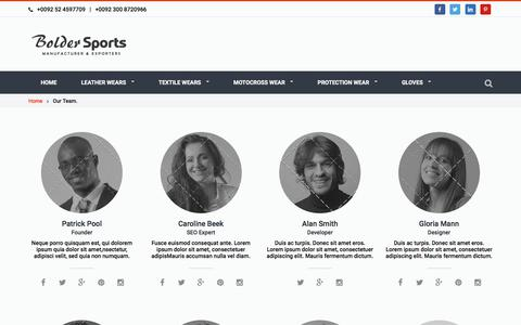 Screenshot of Team Page boldersports.com - Our Team. | Motorbike Leather Racing Suits - captured Aug. 3, 2018