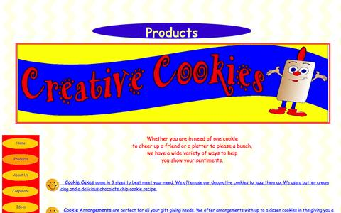 Screenshot of Products Page creativecookies.com - Products - captured June 24, 2016