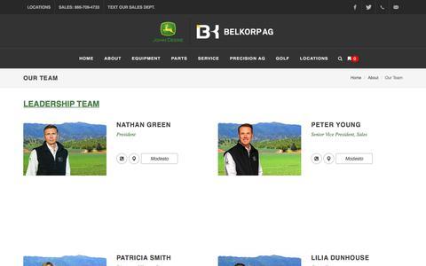 Screenshot of Team Page belkorpag.com - Our Team - captured Sept. 11, 2018