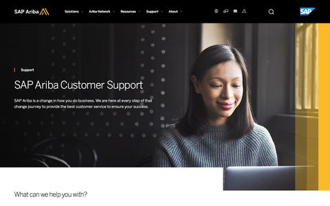 Screenshot of Support Page ariba.com - SAP Ariba Customer Support for Current Users | SAP Ariba - captured Sept. 10, 2017