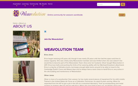 Screenshot of About Page weavolution.com - About us | Weavolution - captured Sept. 21, 2018