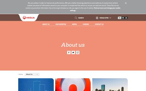 Screenshot of About Page veolia.com - About us | Veolia Nuclear Solutions - captured Nov. 1, 2018