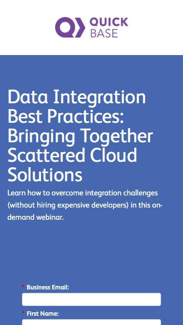 Data Integration Best Practices: Bringing Together Scattered Cloud Solutions Webinar | QuickBase