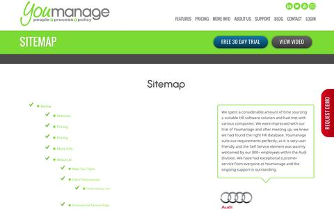 Screenshot of Site Map Page youmanage.co.uk - Youmanage HR Ltd | Sitemap - captured Dec. 11, 2016