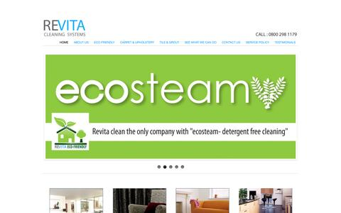 Screenshot of Home Page revitaclean.com - Newcastle carpet cleaners | carpet cleaning gosforth, jesmond and north tyneside | upholstery cleaning durham,  gosforth and south shields | floor cleaning newcastle - captured Oct. 8, 2014