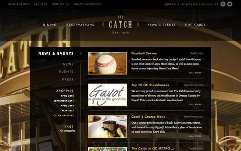 Screenshot of Blog catchanaheim.com - News & Events Archives - The Catch - captured Feb. 15, 2016