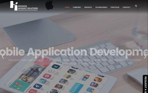 Screenshot of Home Page hexagoninfosoft.com - Professional Web Designers and Web Developers - captured June 28, 2017
