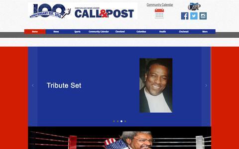 Screenshot of Home Page callandpost.com - Home - captured July 11, 2017