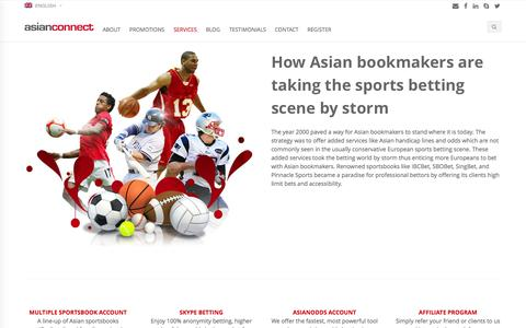 Screenshot of Services Page asianconnect88.com - Asianconnect Betting Brokerage ibcbet sbobet pinnacle sports - captured Nov. 2, 2014
