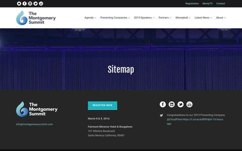 Screenshot of Site Map Page montgomerysummit.com - Sitemap - The Montgomery Summit - captured Sept. 24, 2015