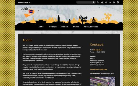 Screenshot of About Page valo.tv - About   Valo TV - captured Oct. 7, 2014