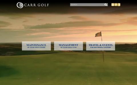 Screenshot of Home Page carrgolf.com - Home - Carr Golf - captured Dec. 7, 2015