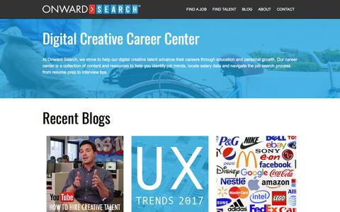 Career Center by Onward Search | Interactive Design, Internet Marketing and Mobile Career Info