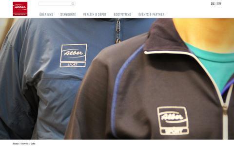 Screenshot of Jobs Page sport-alber.com - Jobs & freie Stellen - Alber Sport - captured Feb. 9, 2016
