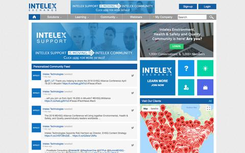 Intelex Client Portal – Intelex-Exchange
