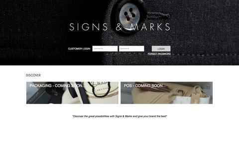 Screenshot of Login Page signs-marks.com captured May 27, 2017