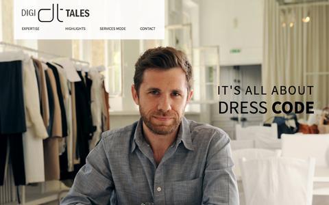 Screenshot of Home Page digi-tales.fr - Digi-tales   Expertise digitale pour la mode - captured Sept. 30, 2014