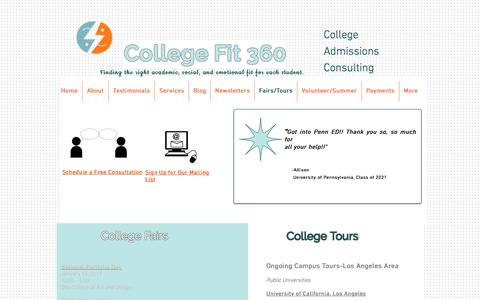 College Fit 360-College Admissions Consulting Los Angeles--Fairs/Tours