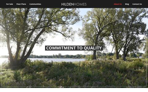 Screenshot of About Page hildenhomes.com - About Us - Hilden Homes - captured July 19, 2018