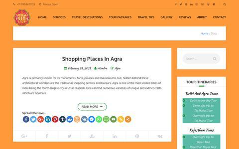 Screenshot of Blog letsgoindiatours.com - Blog - Lets Go India Tours - captured March 1, 2018