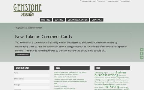 Screenshot of Support Page gemstonemedia.net - customer service   - Gemstone Media - captured Oct. 27, 2014