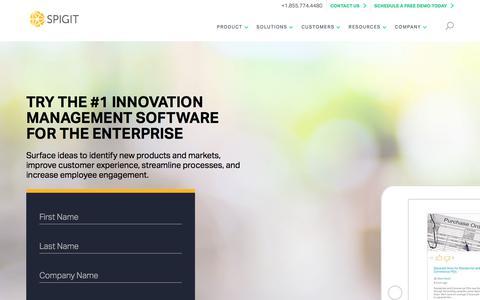 Spigit Innovation Management Demo