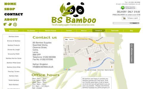 Screenshot of Contact Page bs-bamboo.co.uk - contact us - captured May 23, 2016