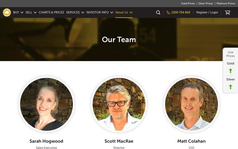 Screenshot of Team Page goldbullionaustralia.com.au - Our Team – Gold Bullion Australia - captured July 21, 2018
