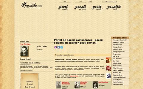Screenshot of Home Page poeziile.com - Poezii online - mii de poezii si poeti - poeziile.com - captured Oct. 27, 2018