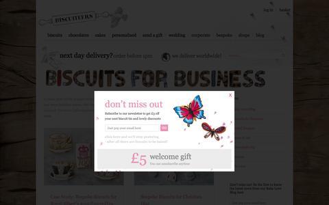 Screenshot of Case Studies Page biscuiteers.com - Biscuits for Business Archives - Biscuiteers - captured Sept. 20, 2016