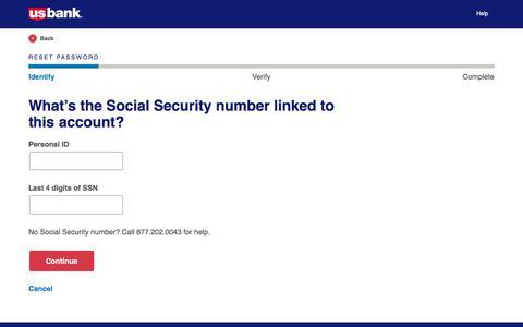 Login Assistance | Reset Password