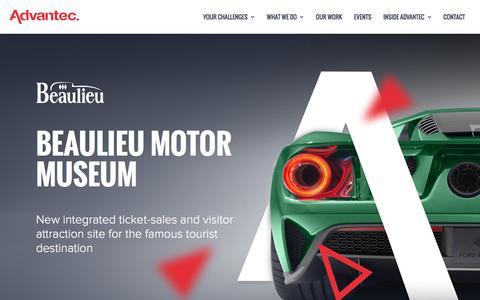 Screenshot of Case Studies Page advantec.co.uk - Beaulieu Motor Museum Website Project Case Study - captured Sept. 22, 2017