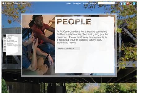 Screenshot of Team Page artcenter.edu - People | Art Center College of Design | Pasadena, CA - captured Sept. 22, 2014