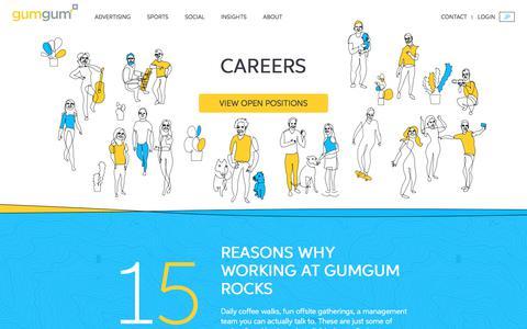 Screenshot of Jobs Page gumgum.com - Careers | GumGum - captured April 15, 2018