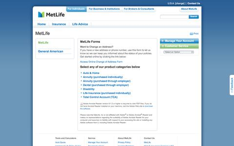 Insurance Forms from MetLife