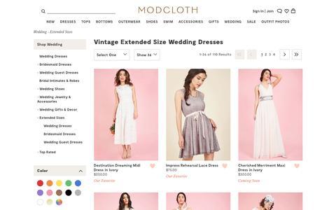 Vintage Plus Size Wedding Dresses | ModCloth