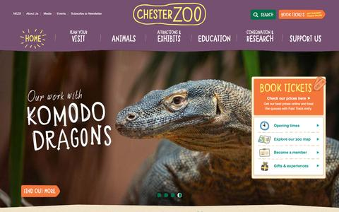 Screenshot of Home Page chesterzoo.org - Visit Chester Zoo - the UK's number one zoo - captured Feb. 23, 2016