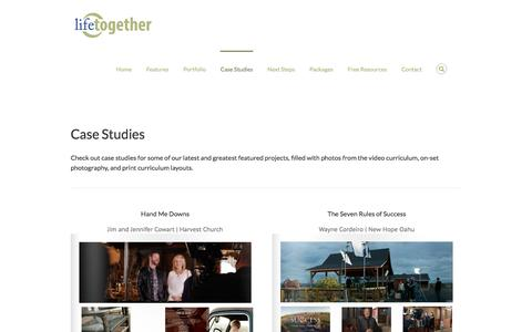 Screenshot of Case Studies Page lifetogether.com - Case Studies | Lifetogether Campaigns - captured Jan. 29, 2016