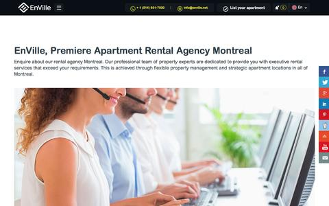 Screenshot of About Page enville.net - Apartment Rental Agency Montreal & Quebec | EnVille - captured Nov. 8, 2016