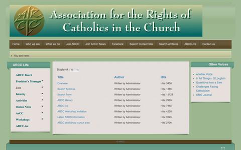 Screenshot of Signup Page arcc-catholic-rights.net - Join - captured May 24, 2016