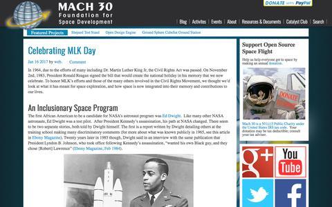 Screenshot of Blog mach30.org - Main - Mach 30 - captured July 26, 2018