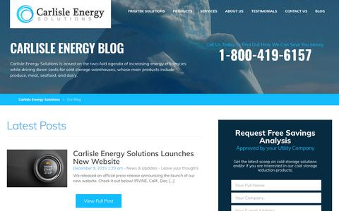 Screenshot of Blog carlislenergy.com - Our Blog - Carlisle Energy Solutions : Carlisle Energy Solutions - captured July 11, 2017