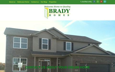 Screenshot of Contact Page bradyhomes.com - Contact us – Brady Homes - captured July 30, 2016