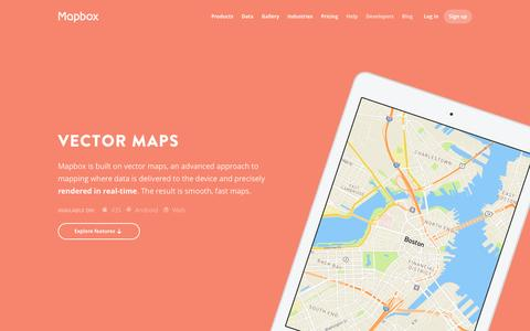 Screenshot of Maps & Directions Page mapbox.com - Maps | Mapbox - captured Dec. 1, 2015