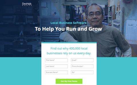 Screenshot of Landing Page dexmedia.com - DexHub | Run and Grow Your Business - captured Nov. 23, 2016