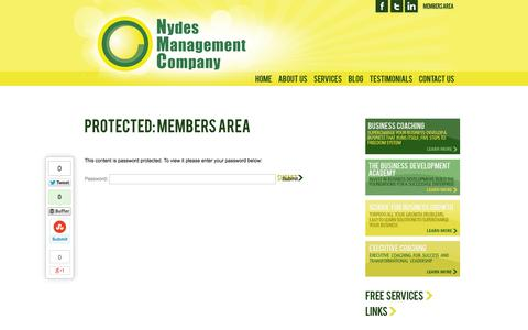 Screenshot of Login Page nydesmanagement.co.uk - Members Area | Nydes Management - captured Oct. 26, 2014