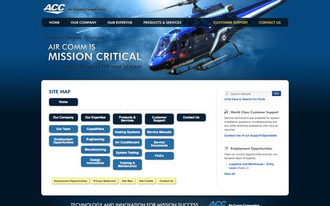 Screenshot of Site Map Page aircommcorp.com - Site Map  |  Air Comm Corporation - captured Oct. 4, 2014